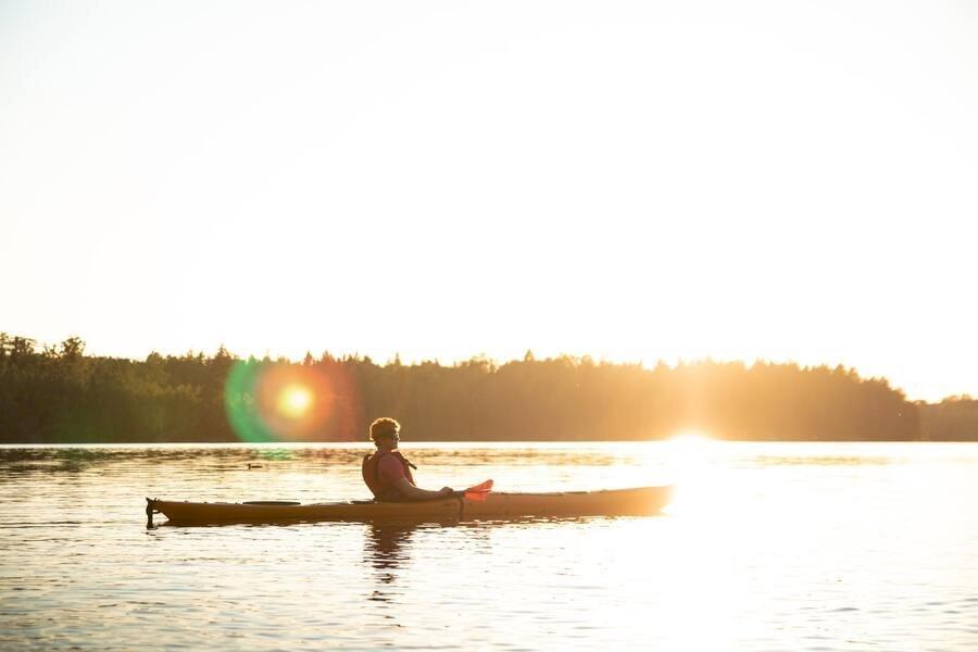 Kayaking in Schwedens Wildnis